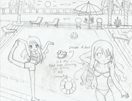 Messy sketch: Its Summer Vacation by zairanicole