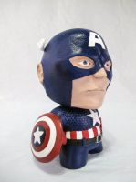 Captain America Munny by IncredibleCreature