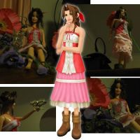 Aerith Barbie- More images 8D by Lil-IBeatSephy