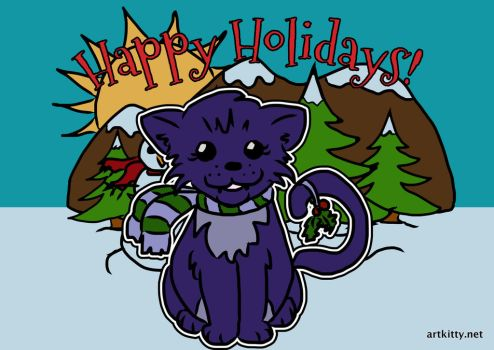 Meow Happy Holidays by lorikitty