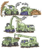 pixar's cars constructicons by kaeae