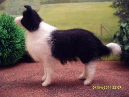 Needle felted dog by Tawneyhorses