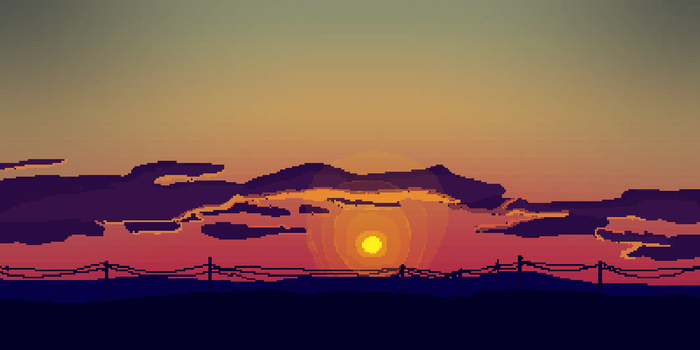 16 bit Sunset by petinexus