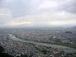 View from Gifu Castle 3 by moldypotatoes