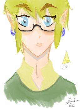 Link with glasses by Shadowtwili4181