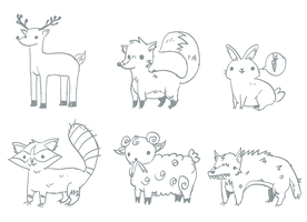 Animals Sketches by lemon5ky
