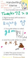 Handwriting meme by Tweeter72