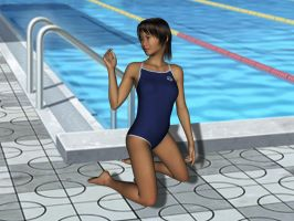 School Swimsuit for Genesis 3 Female by amyaimei