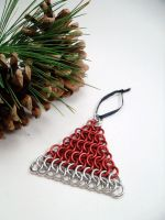 Santa's Hat in Maille by SerenityinChains