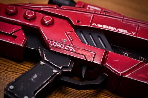 Mass Effect M-8 Assault Rifle in Red Pic 3 by VariaK