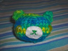 Green n Blue Bear Head by UnluckyPrincess