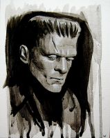 Frankenstein painting by sarahwilkinson
