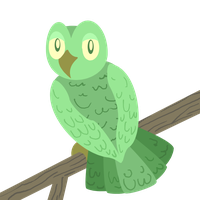 Green Owl by zomgmad
