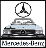 Mercedes-Benz 560SL shirt logo by The-Transport-Guild