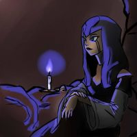 Ilana - blue candles by mmemento