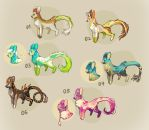 [Closed] Adoptable: Nyeer, close species - Set 1 by HJeojeo
