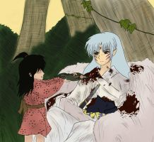 Rin and Sesshomaru by Aradia617