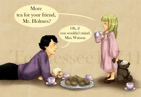 Mr. Holmes and Miss Watson's Tea Party by Tennessee11741