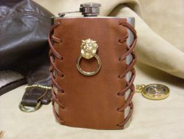 Knocker Steampunk Flask by Justenjoyinglife