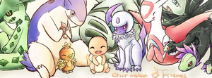 Charmeleon and Friends Banner 4 by Katiefrog217