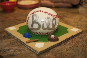 Baseball Cake by bahgee