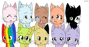 Cat adoptables! (3 points) by davmarv