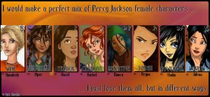 All Percy Jackson girls by JR-adeen