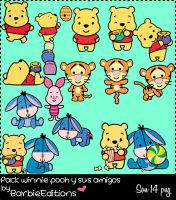 Pack de winnie pooh y sus amigos by BarbieEditionsYT