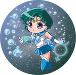 Sailor Mercury Button by Hadibou