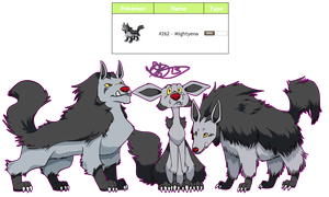 Pokemon Design Challenge - Mightyena by Dezfezable