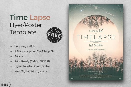 Free Time Lapse Flyer Template by Thats-Design
