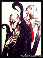 CollabArt: Slenderman by XxLevanaxX
