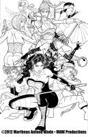 Girl Power Pencils and Inks by martheus