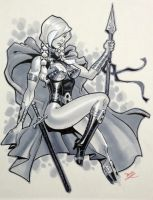 Valkyrie con drawing by MichaelDooney