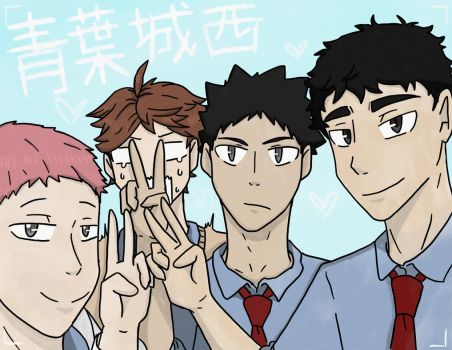 Seijou Third Years by SnowGoldCastle