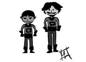 Spacemen Doodle by LadyQuintessence