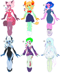 adoptables batch 2 by tesazombie