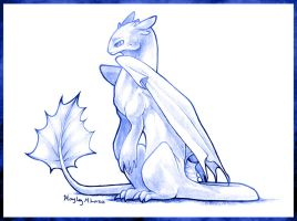 Toothless Sketch by Art-Zealot