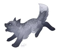 Silver Pup by lizspit
