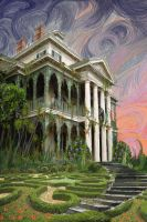 The Haunted Mansion at Sunrise by adamtaula