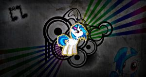 vinyl scratch Dj-pon3 texture style wallpaper by KennyKlent