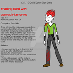 Trading Card WIP - Conrad Fitzmorris by LittleGreenGamer