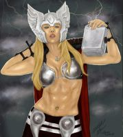 Toni as Lady Thor by PaulMichaels