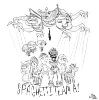 Spaghetti Team A! Preview of a brand new comic! by GreenClown42