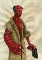 hellboy with 5 stone fingers by furk