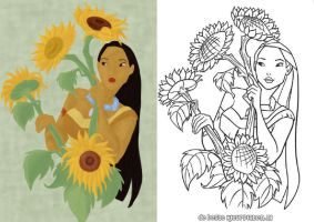 Pocahontas coloring page by Citron--Vert