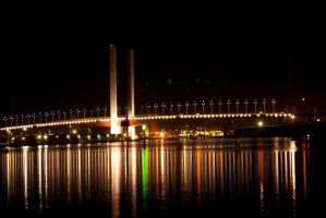 Night: Bolte Bridge Reflection by DanielleMiner