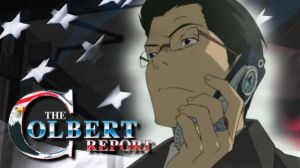 Stephen Colbert in Anime by FunkMasterFlex3
