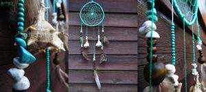 Turquoise dreamcatcher by SuvetarsWell