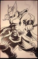 Thor Commission by artistjerrybennett